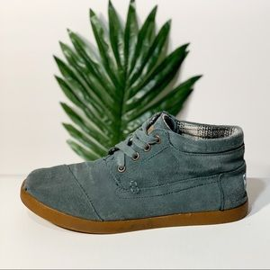 High top suede Toms booties green shoes Sneakers